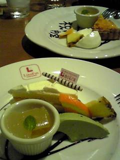 津山城ランとリトファンのディナー