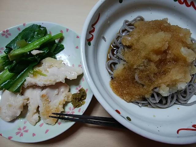 永平寺そばはおろし蕎麦で